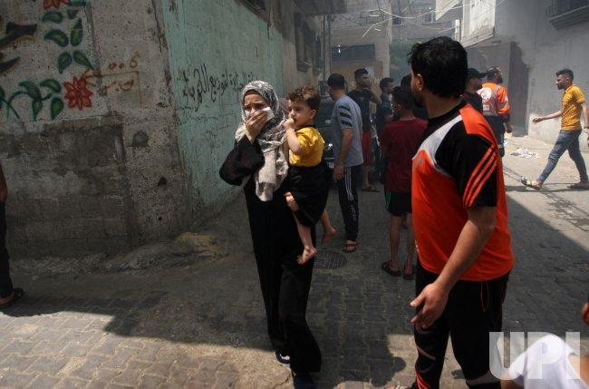 An Israeli Air Strike on Southern Gaza