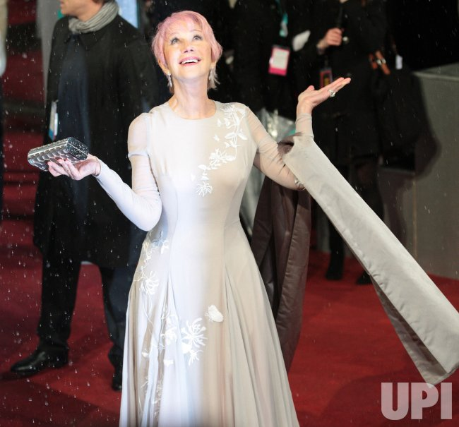 Helen Mirren arrives at the Baftas Awards Ceremony