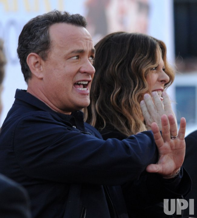 "Tom Hanks and Rita Wilson arrive at the ""Larry Crowne"" premiere in Los Angeles"