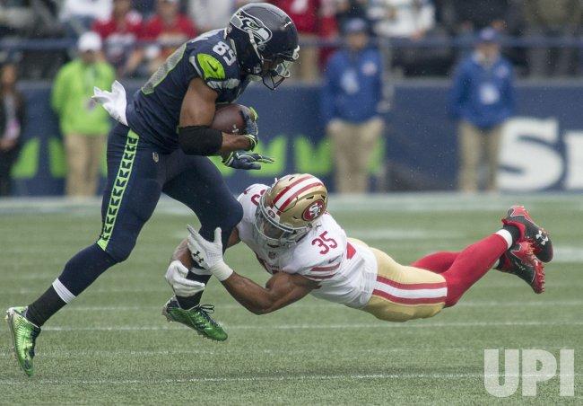 Seattle Seahawks beat the San Francisco 49er's 12-9 in Seattle.