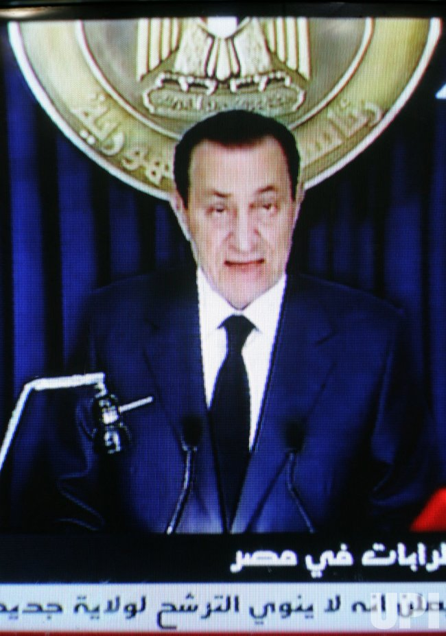 Egypt's President Hosni Mubarak Speaking to Nation