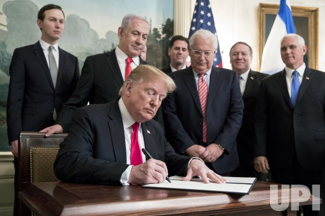 President Donald Trump Signs Agreement with Israel PM Netanyahu