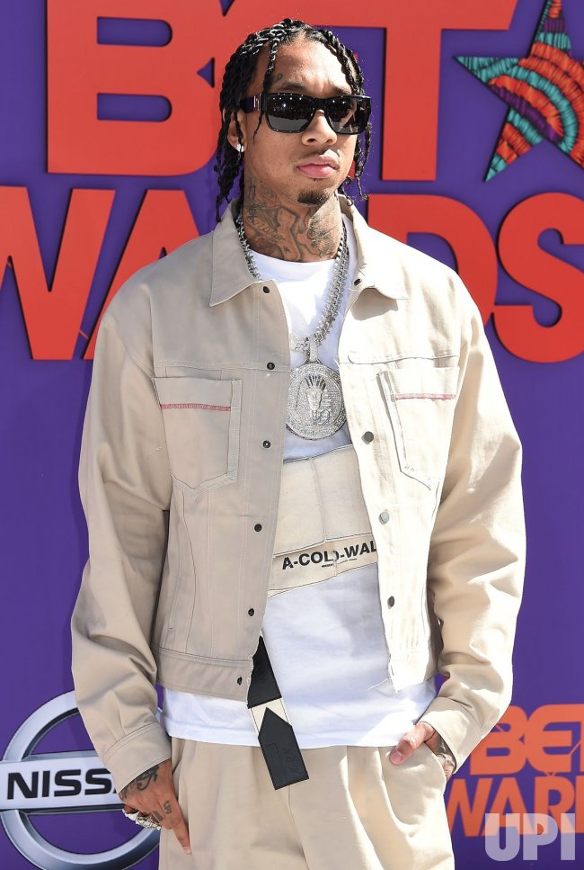 Tyga attends the 18th annual BET Awards in Los Angeles