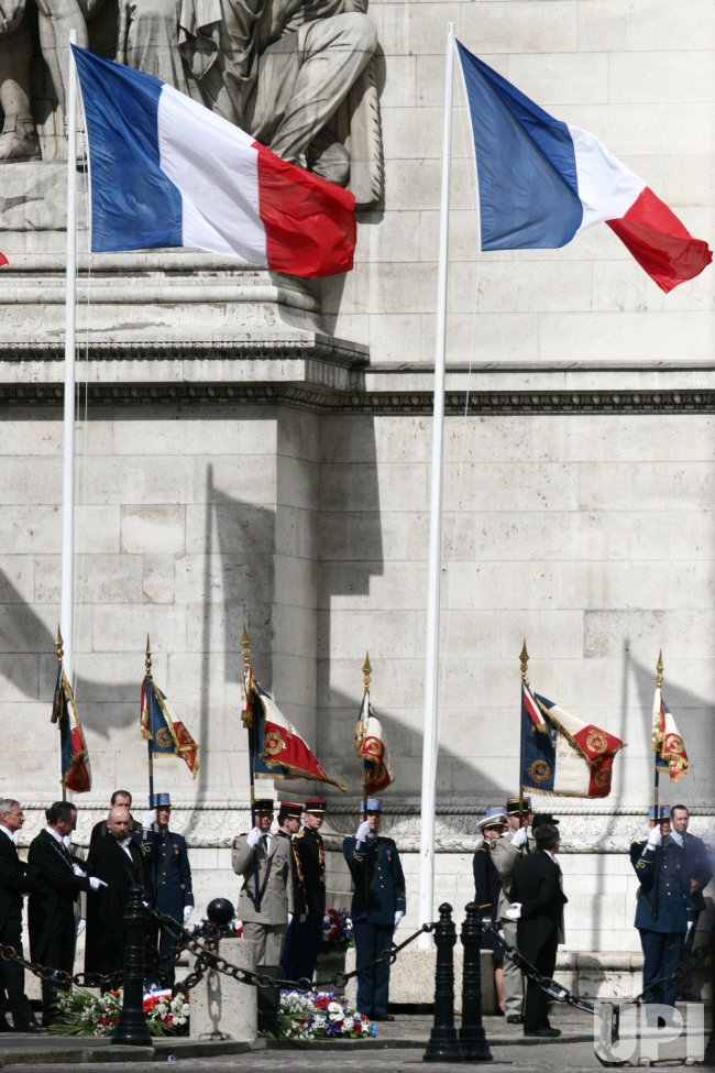 PARIS: VICTORY DAY CEREMONIES