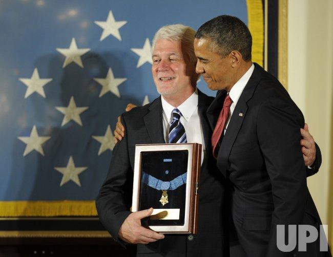 President Obama awards Medal of Honor posthumously to Father Emil Kapaun