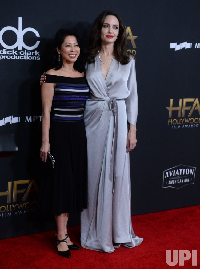 Loung Ung and Angelina Jolie attend 21st annual Hollywood Film Awards in Beverly Hills