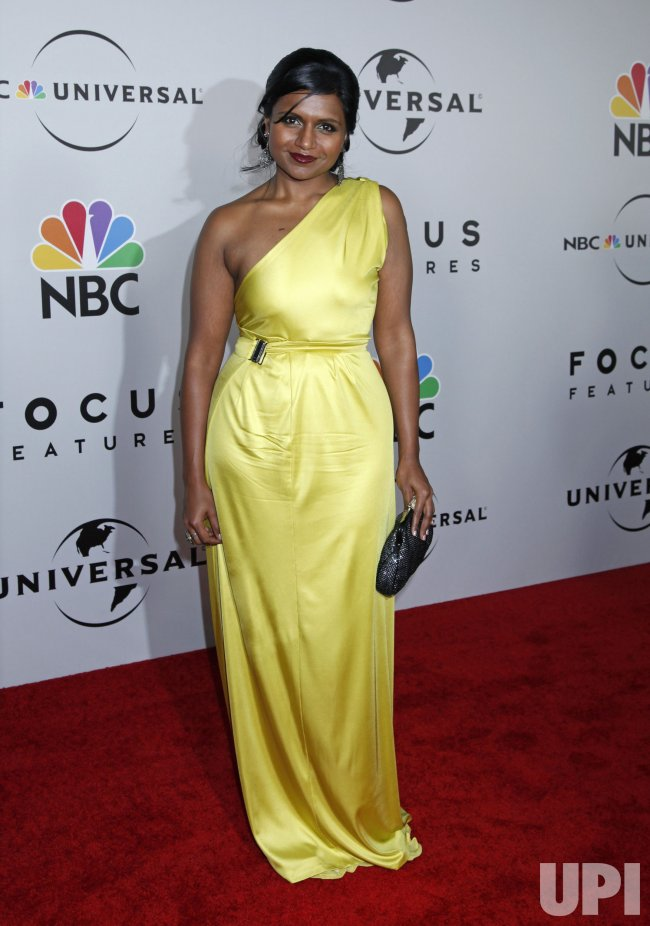 Mindy Kaling arrives at the NBC/Universal Golden Globes After-Party in Beverly Hills