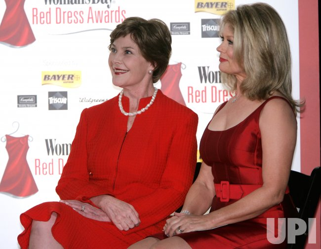 LAURA BUSH RECEIVES RED DRESS DAY AWARD