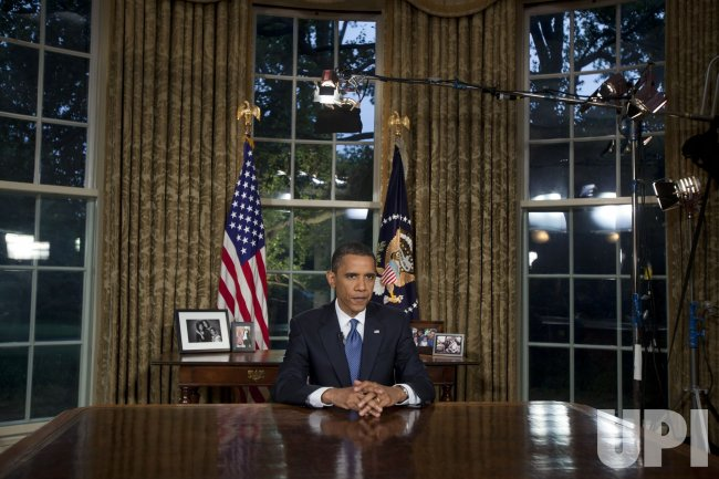 US; President Obama Makes A Prime Time SpeechFrom The Oval Office