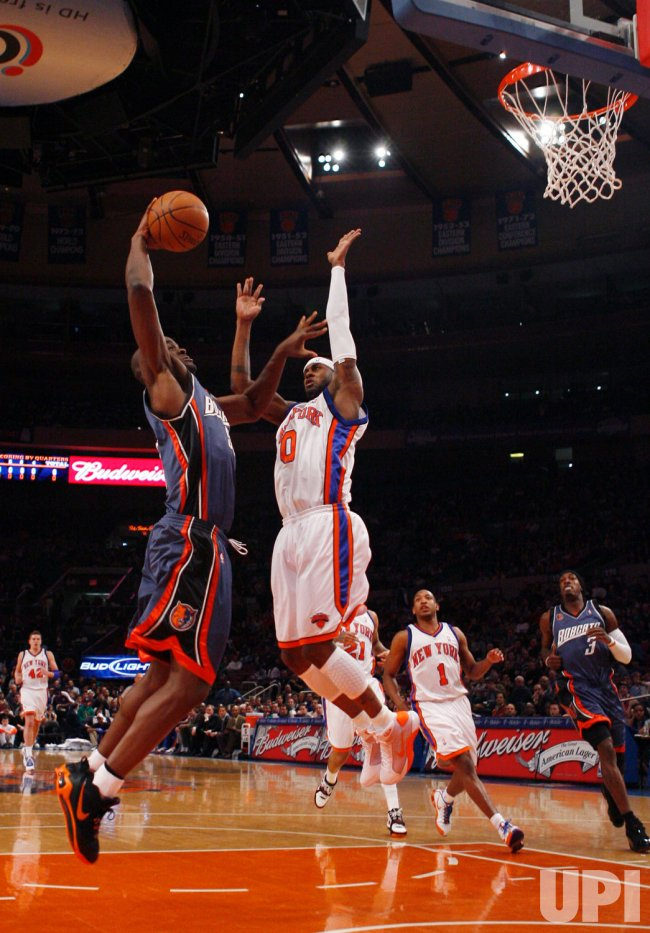 Charlotte Bobcats vs New York Knicks in New York