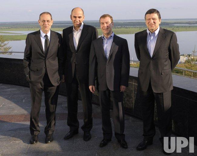 Russian President Medvedev attends a Russia-EU summit in Khanty-Mansiysk