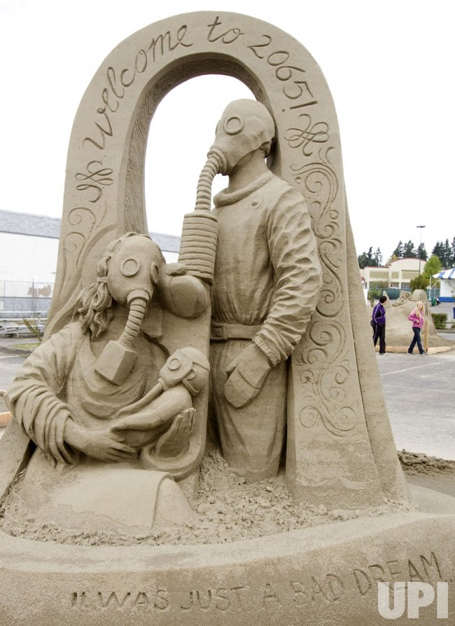 Uldis Zarins, from Latvia, created this sculpture at the World Champion Sand Sculpture Championships held in Federal Way, Washington