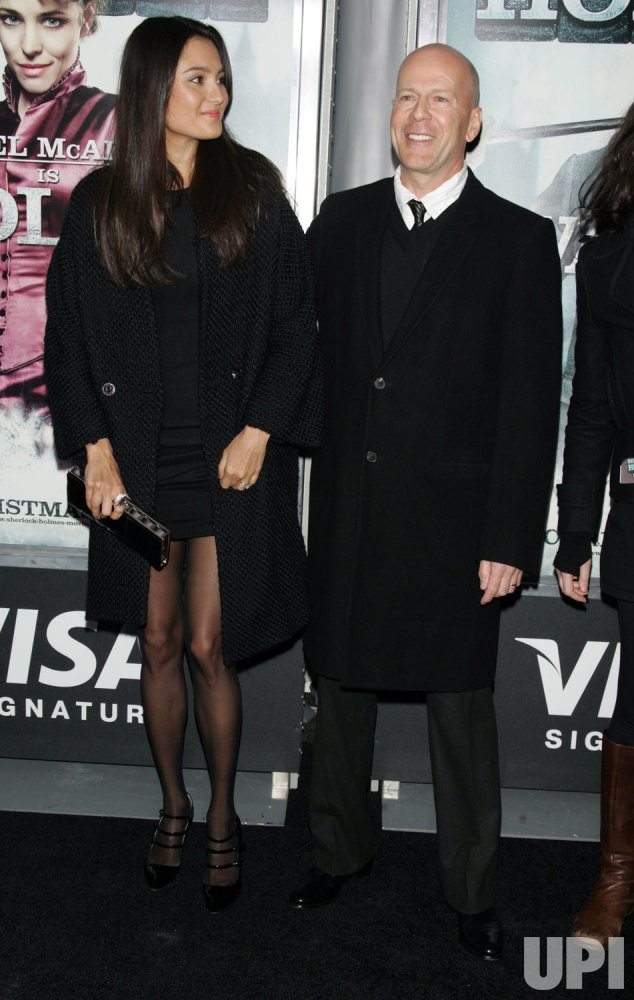 """Bruce Willis and wife arrive for the """"Sherlock Holmes"""" Premiere in New York"""
