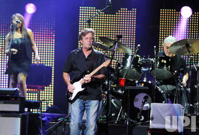 Eric Clapton performs in London