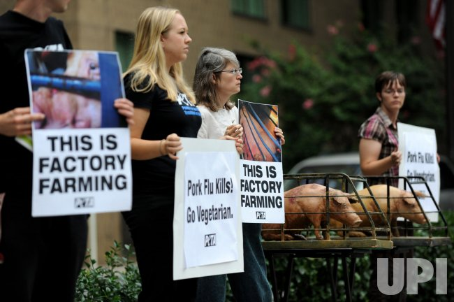 PETA Protests outside of the International Swine Flu Conference in Washington