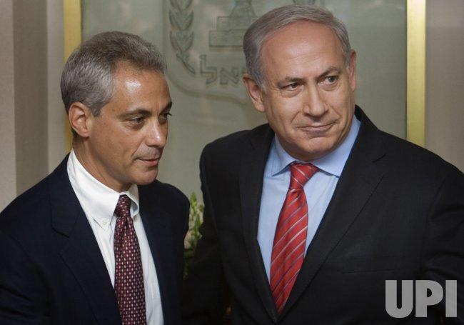 Rahm Emanuel meets with Israeli Prime Minister Netanyahu in Israel
