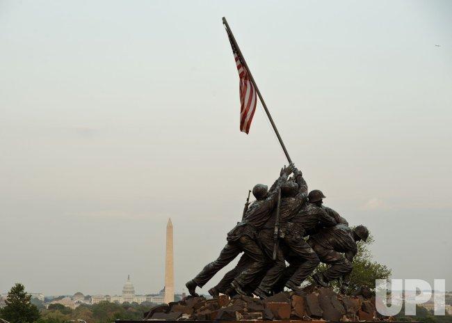 The Marine Corps War Memorial in Virginia