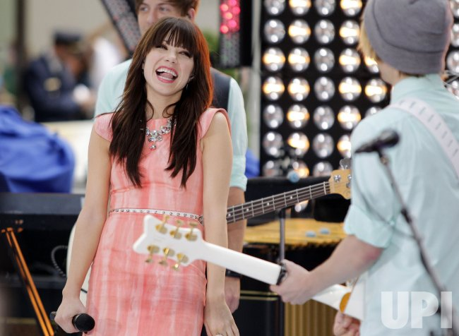 Carly Rae Jepsen on the NBC Today Show in New York
