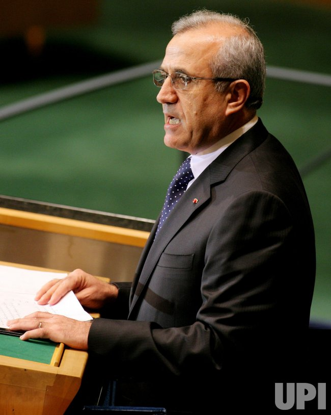Lebanon President Michel Sleiman addresses General Assembly at United Nations