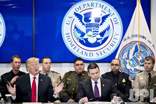 President Trump Visits The Customs And Border Protection National Targeting Center