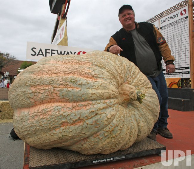 Iowa grower wins pumpkin weigh-off in Half Moon Bay, California