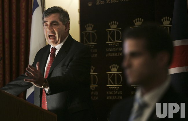 British PM Gordon Brown visits Jerusalem