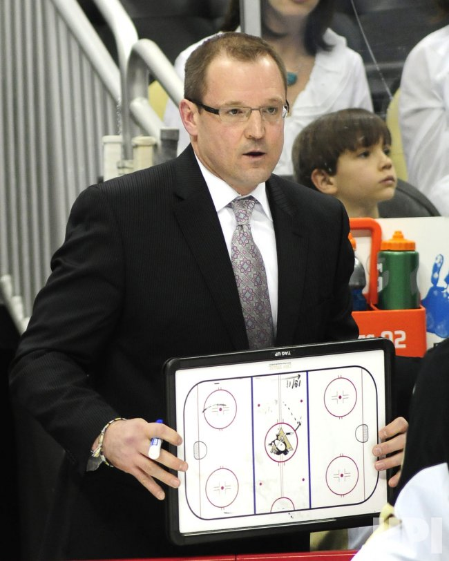 Penguins Head Coach Dan Bylsma During Timeout in Pittsburgh