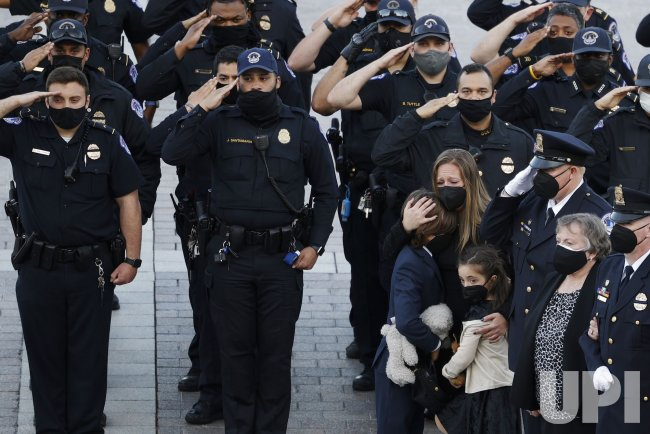 Slain U.S. Capitol Police officer William Evans is honored in Washington