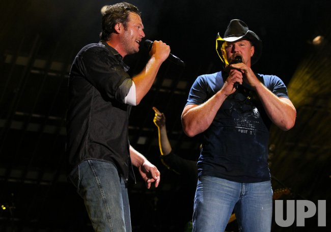 Blake Shelton performs at the CMA Music Festival in Nashville