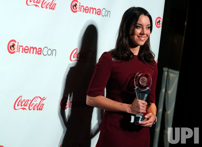 Aubrey Plaza arrives at the 2013 CinemaCon Awards Ceremony in Las Vegas