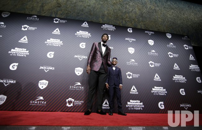 Joel Embiid and Maxwell 'Bunchie' Young at SI Sportsperson of the Year