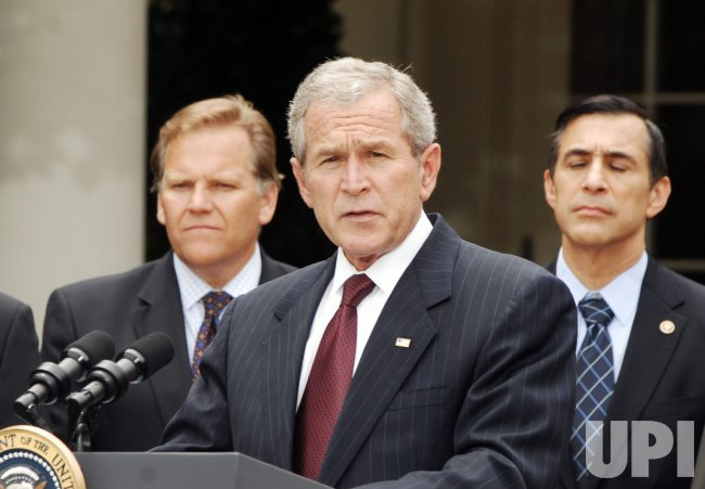 U.S. President Bush signs FISA Act in Washington