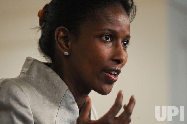 Author Ayaan Hirsi Ali speaks at book forum in Washington