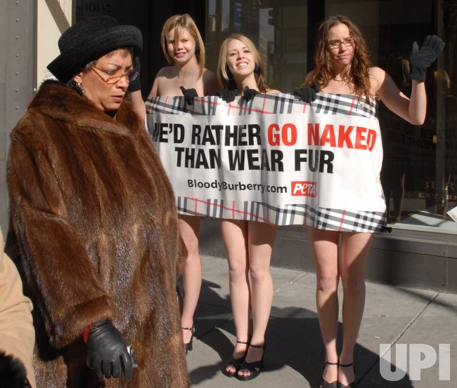 PETA PROTESTS FUR AT WASHINGTON BURBERRY STORE