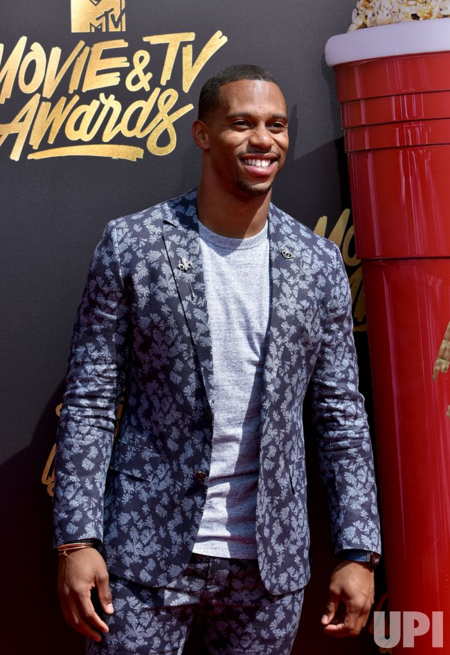 Victor Cruz attends the 2017 MTV Movie & TV Awards in Los Angeles
