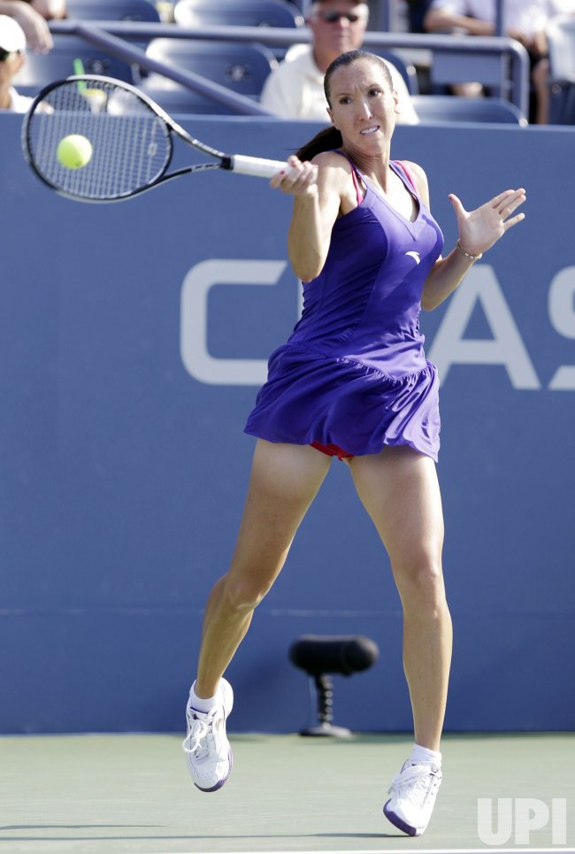 Jelena Jankovic of Serbia at the U.S. Open Tennis Championships in New York