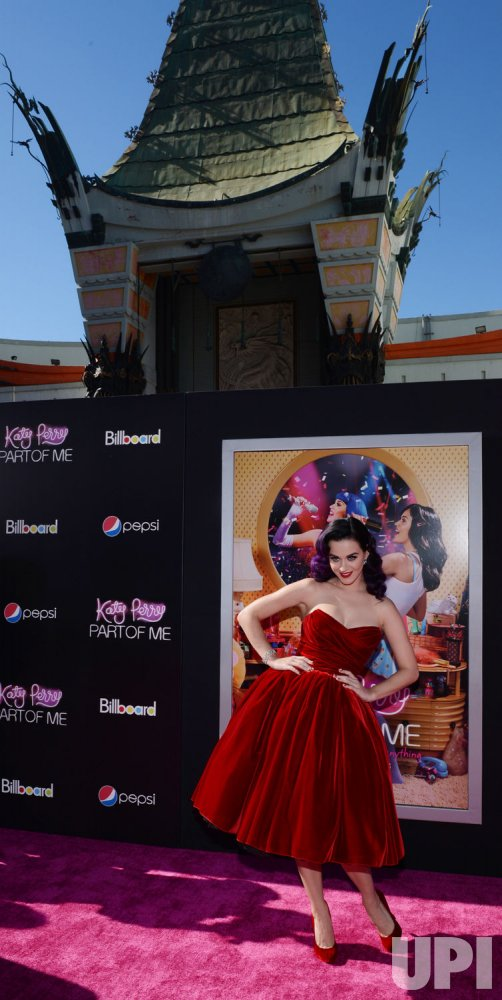 "Katy Perry attends the premiere of her documentary ""Katy Perry: Part of Me"" in Los Angeles"