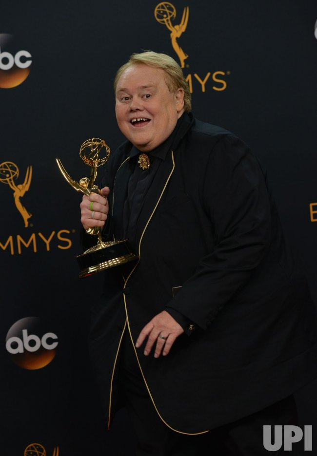 Louie Anderson wins an award at the 68th Primetime Emmy Awards in Los Angeles
