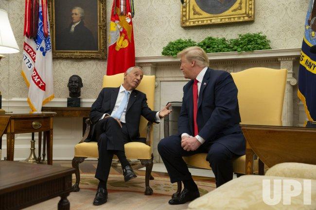 President Donald Trump meets with Portugal President Marcelo Rebelo de Sousa