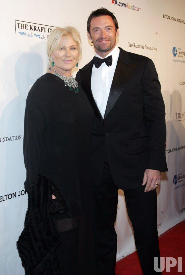 Hugh Jackman arrives for the Elton John AIDS Foundation Gala in New York