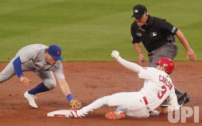 St. Louis Cardinals Dylan Carlson Safe At Second Base