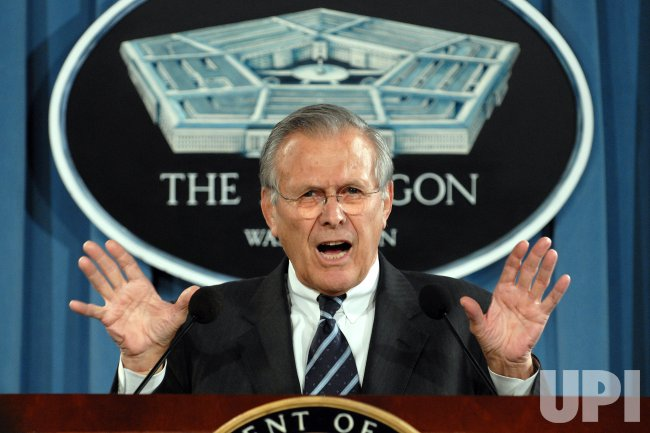 RUMSFELD RESIGNS AS SECRETARY OF DEFENSE