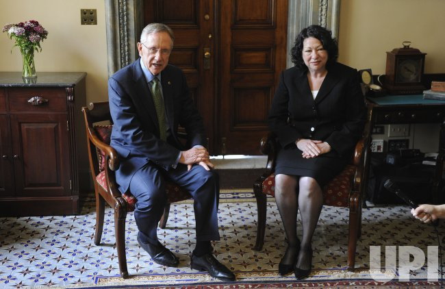 Supreme Court nominee Judge Sonia Sotomayor attends meetings on Capitol Hill.