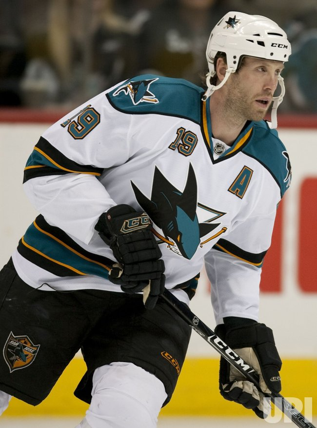 Sharks Thornton Skates in Denver
