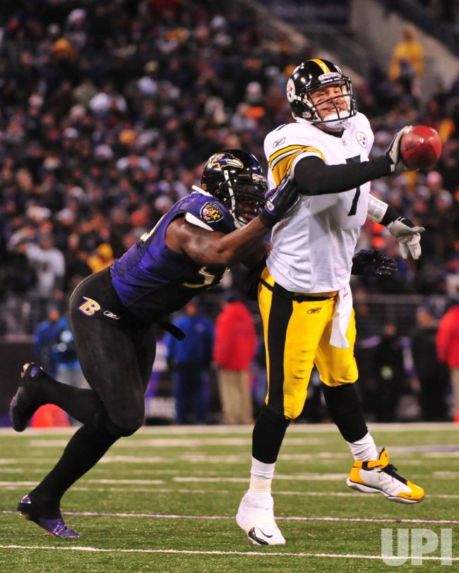 Steelers' Ben Roethlisberger in Baltimore