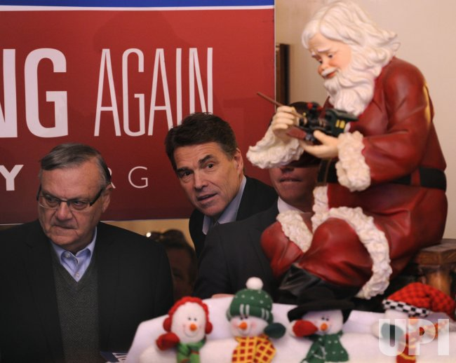 GOP presidential candidate Rick Perry campaigns in Council Bluffs, Iowa