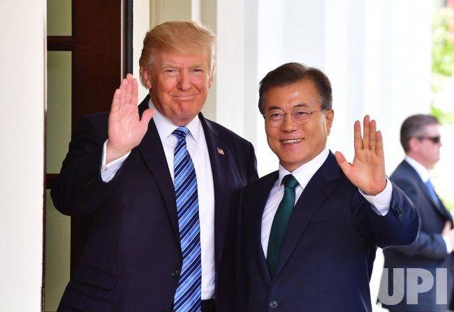 President Trump welcomes Moon Jae-in to the White House