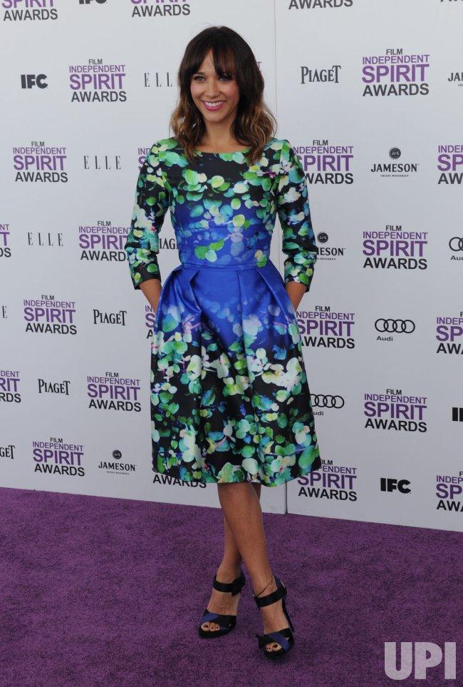 Rashida Jones attends the Film Independent Spirit Awards in Santa Monica, California