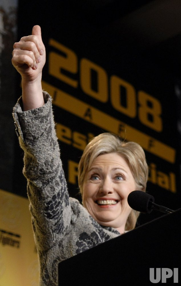 HILLARY CLINTON SPEAKS AT IAFF 2008 PRESIDENTIAL FORUM IN WASHINGTON