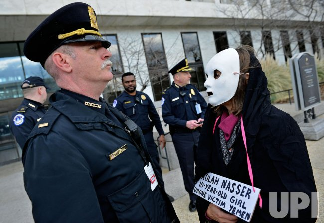CodePink protests against Drone Strikes and John Brennan's CIA Nomination in Washington